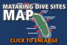 Map dive spots Mataking