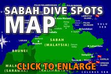 Map dive spots Sabah