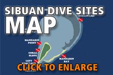 Map dive spots Sibuan
