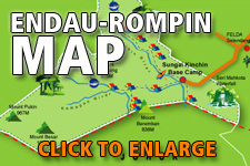 Map Endau Rompin National Park