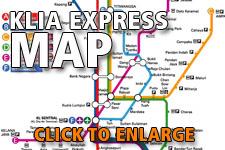 Map KLIA Express route