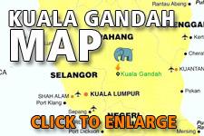 Map Kuala Gandah Elephant Sanctuary