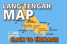 Map Lang Tengah Island