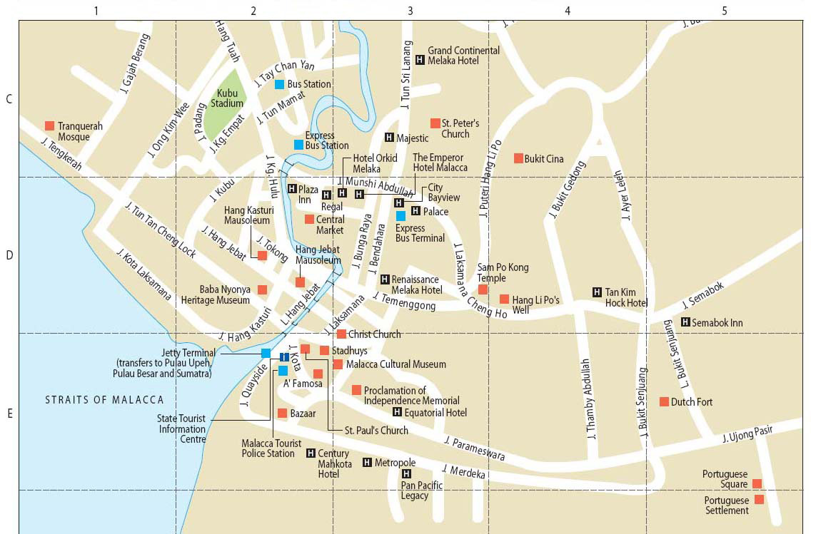 Malacca city in Malaysia – Malaysia Tourist Attractions Map