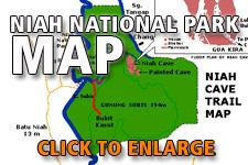 Map Niah National Park