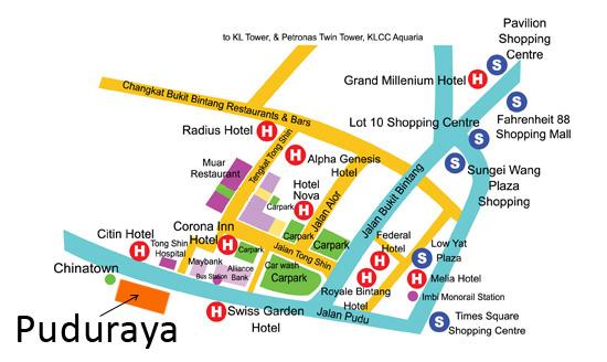 Pudu Sentral Puduraya central bus station in Kuala Lumpur
