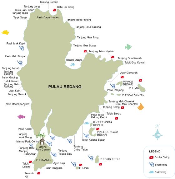 Map Redang Island