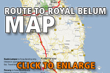 Map route to Royal Belum State Park