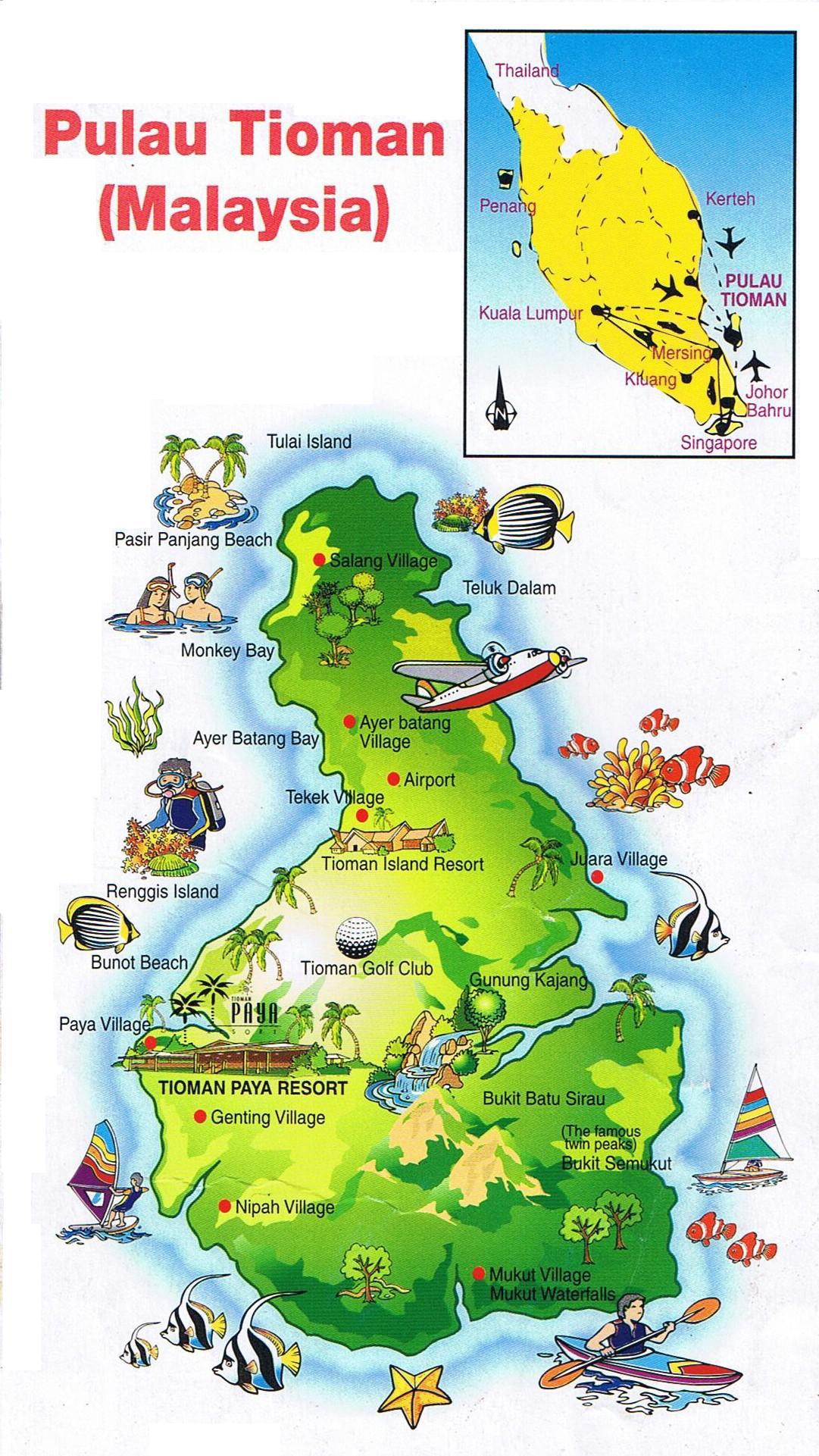 Tioman Malaysia Map Tioman Island in Malaysia | Wonderful Malaysia