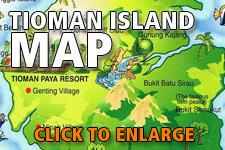 Map Tioman Island