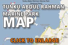 Map Tunku Abdul Rahman National Park