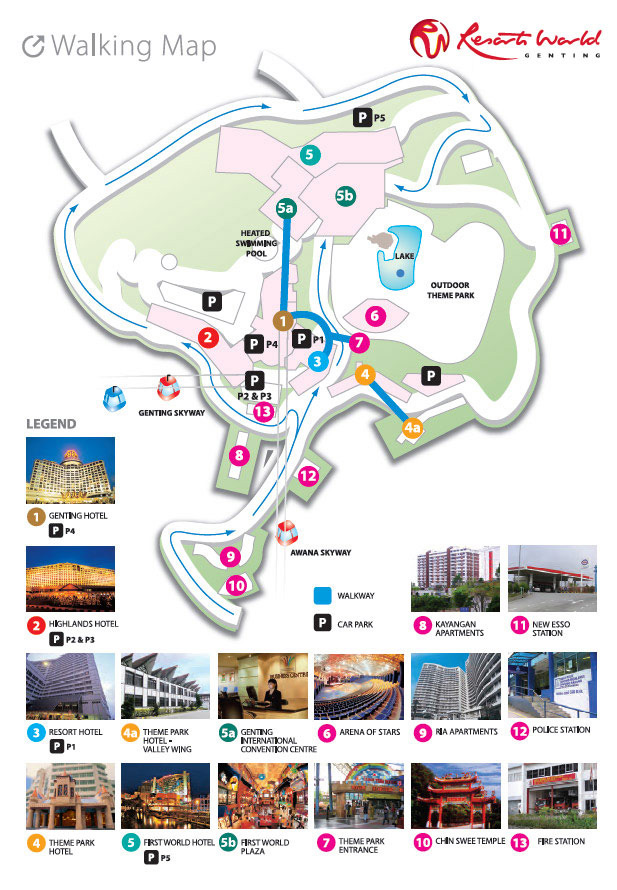 Genting Highlands – Malaysia Tourist Attractions Map