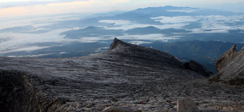Views during descent of Mt. Kinabalu