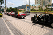Taxis waiting in Georgetown Penang