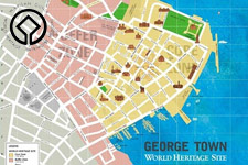 Georgetown World Heritage Site map