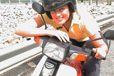 Riding a motorbike on Penang is fun
