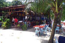 Local restaurant at basic Paradise resort