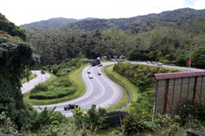 Road to Cameron Highlands in Malaysia