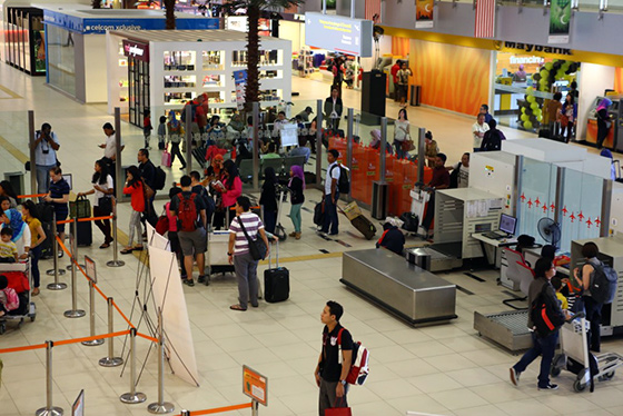 Subang Airport check luggage