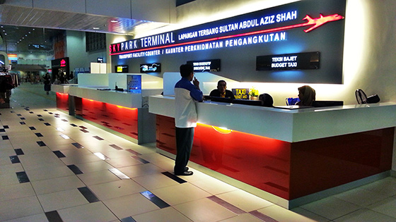 Taxi counter at Subang Airport