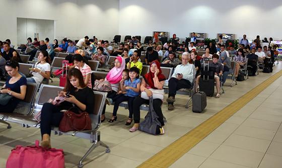 Subang Airport waiting area