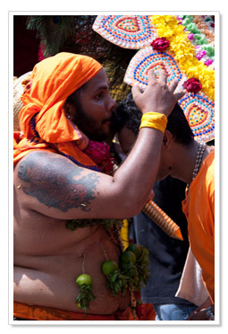Blessing of a devotee