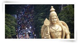 Devotees during Thaipusam