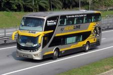 Taking a bus in Malaysia
