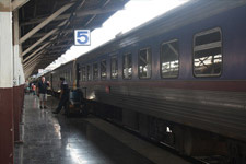 From Thailand to Malaysia by train