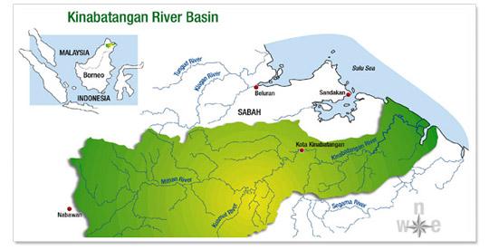 Map Kinabatangan River Cruise